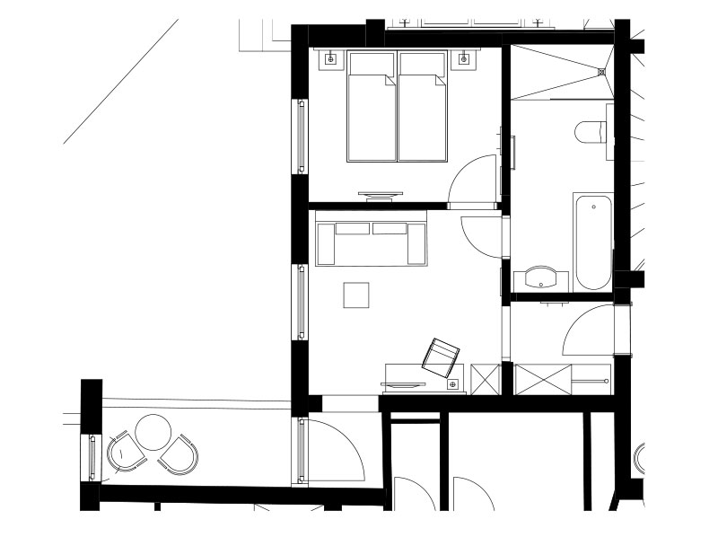 Skizze - Appartement Kesselspitz