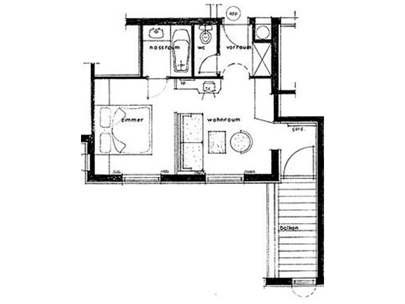 Skizze Appartement Standard