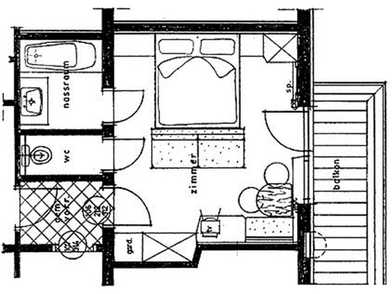 Skizze Doppelzimmer Standard